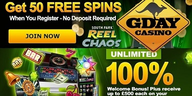 G'Day Casino Free Spins