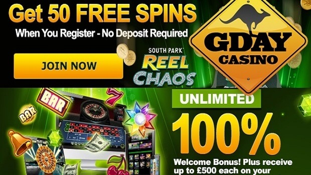 gday casino 50 free spins