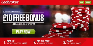 Ladbrokes No Deposit Offer