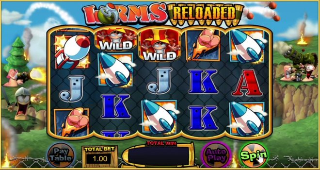 Worms Reloaded Slot Machine
