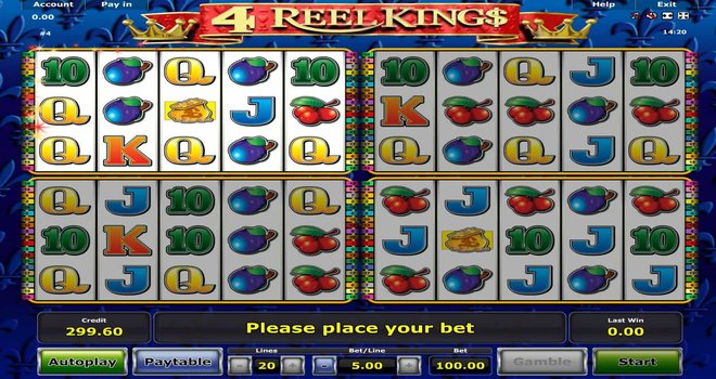 4 Reel Kings Slot Machines